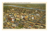 Aerial View over Downtown Portland, Oregon Prints