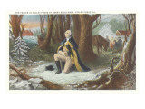 Painting of Washington at Valley Forge Poster
