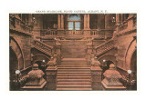 Grand Staircase, Capitol, Albany, New York Prints