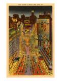 Times Square at Night, New York City Kunstdruck