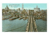 Brooklyn Bridge, Lower Manhattan Prints