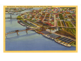 Aerial View, Waterfront, Portland, Oregon Posters