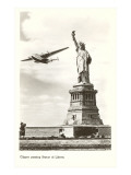 Clipper Passing Statue of Liberty, New York City Prints
