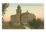 Lyman Hall of Natural History, Syracuse University Print