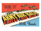 Taking Off, Army Air Base, Reno, Nevada Posters