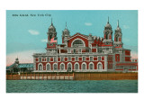 Ellis Island, New York Harbor Posters