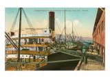 Loading Wheat at Dock, Portland, Oregon Print