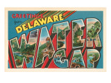 Greetings from Delaware, Water Gap, Pennsylvania Prints
