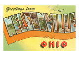 Greetings from Nelsonville, Ohio Poster