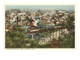 View over Bellevue Incline Plane, Cincinnati, Ohio Posters