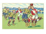 Cartoon Soccer Game Print
