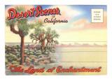 Postcard Folder, Desert Scenes of California Posters