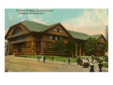 Forestry Building, Log Cabin Portland, Oregon Poster