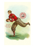 Football Player, Cornell, New York Print