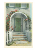 Lattice Door, Nantucket, Massachusetts Prints