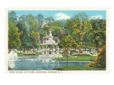 City Park, Saratoga Springs, New York Poster