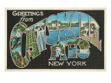 Greetings from the Catskill Mountains, New York Poster
