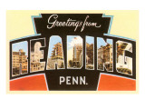 Greetings from Reading, Pennsylvania Prints