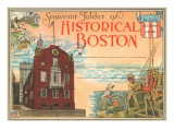 Postcard Folder, Historic Boston, Massachusetts Posters