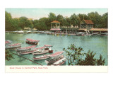 Boat House, Central Park, New York City Poster