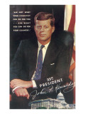 Painting of John F. Kennedy Prints