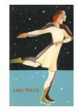 Pair Ice Skating in Lake Placid, New York Print