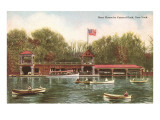 Boat House in Central Park, New York City Prints