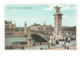 Alexandre III Bridge, Paris Posters