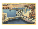 Transcontinental Highway over Boulder Dam, Nevada Art