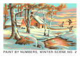 Paint by Numbers, Winter Scene Number Two Prints