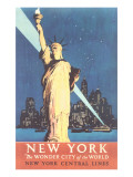Statue of Liberty Travel Poster Prints