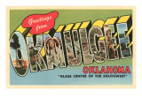 Greetings from Okmulgee, Oklahoma Posters