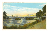 Bridge over Rogue River, Oregon Posters