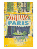 Outdoor Cafe, Paris, France Prints