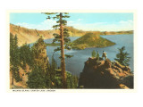 Wizard Island, Crater Lake, Oregon Posters