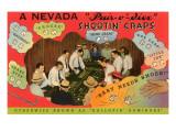 Craps Lesson, Nevada Posters