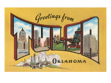 Greetings from Tulsa, Oklahoma Print