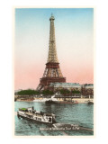 Eiffel Tower and Seine, Paris Prints