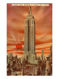 Sunset, Empire State Building, New York City Posters