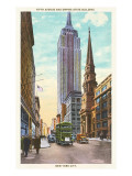 Fifth Avenue, Empire State Building, New York City Posters