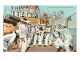 Sailors' Boxing Match On Board Ship Prints