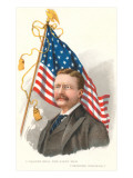 Theodore Roosevelt and Flag Art