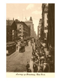 Vintage View of Broadway, New York City Prints
