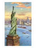 Statue of Liberty, New York Harbor Prints