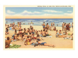 Beach Scene, Geneva-on-the-Lake, Ohio Posters