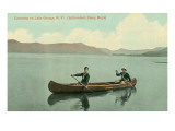 Canoing on Lake George, New York State Prints