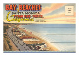 Postcard Folder, Santa Monica, California Prints