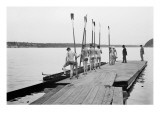 Rowers on Dock Prints