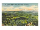 Mt. St. Helens, Mt. Rainier, Mt. Adams Posters