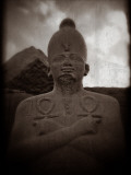 An Egyptian Statue of the Pharaoh Thutmes Iii, Karnak Temple, Egypt Photographic Print by Clive Nolan